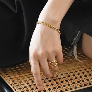 💖18K Gold Plated Pantheon Chain Bracelet